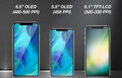 trio of new iPhone models in 2018